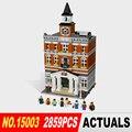 ЛЕПИН 15003 Новый 2859 Шт. Создателей ратуши Модель Строительные Наборы Блоков Kid Toy Совместимы Кирпич Рождественский Подарок