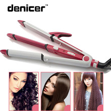 Big sale 3 in 1 Electric Hair Curler and Straightener Personal Hair Styling Tools Thermostatic Wavy Tourmaline ceramic Curling Iron