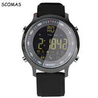 SCOMAS Waterproof Smart Watches Pedometer Activity Sports Watch for Men SMS CALL Reminder Alarm Clock Smartwatch for Cell Phone