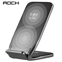 ROCK Qi Wireless Charger For IPhone X 8 10 Samsung Note 8 S8 Plus S7 S6