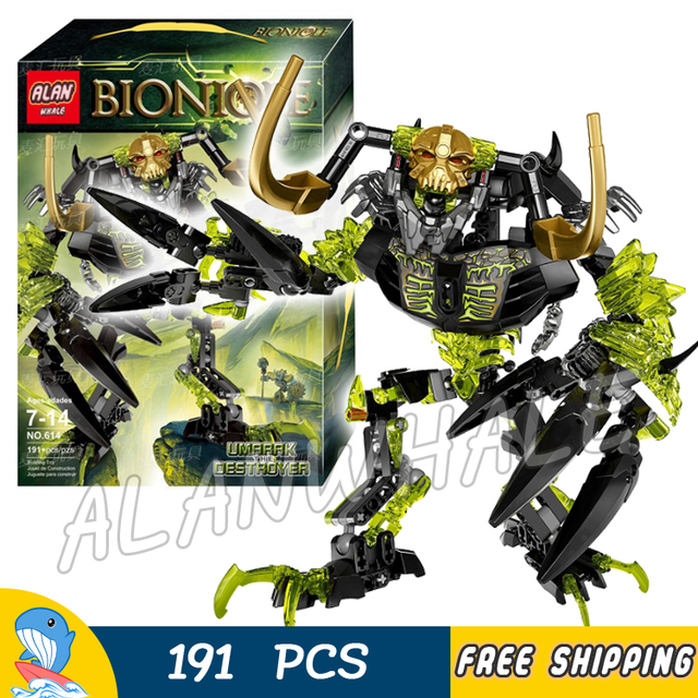 US $17 22 31% OFF|2017 Bionicle Hero Umarak The Destroyer Model Building  Blocks Boys Gifts Robots Children Toys Bricks Games Compatible With Lego-in