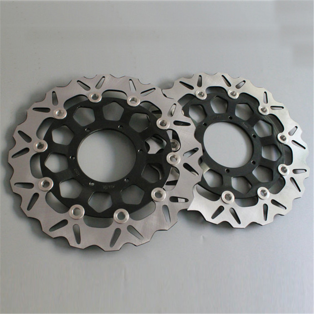 For Honda CBR600RR 03-14 CBR1000RR 04 05 CB1300 03-09 Motorcycle Front Floating Brake Disc Rotor CBR 600 600RR 1000 RR 1000RR keoghs motorcycle brake disc brake rotor floating 260mm 82mm diameter cnc for yamaha scooter bws cygnus front disc replace