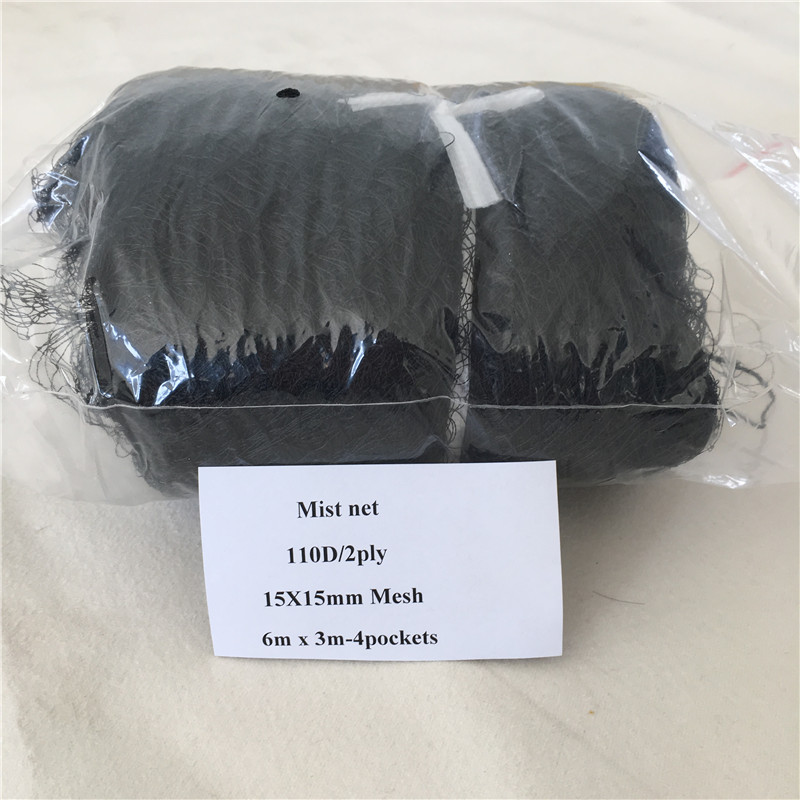 High Quality Deep Pockets Nylon 110/2D 15mm Mesh Size Bird Mist Net Bird Capture Net Bird Nets For Catching Birds