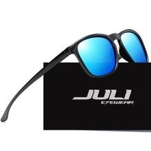 JULI GAFAS Hombres gafas de Sol Polarizadas de Conducción Espejo Gafas de Sol Clásicas Gafas Gafas Gafas de Diseño de Marca UV400 gafas de sol 1916