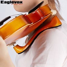 Solid Wood Violin Shoulder Rest Violin Parts Accessories with Collapsible and Height Adjustable Feet for 4/4 and 3/4