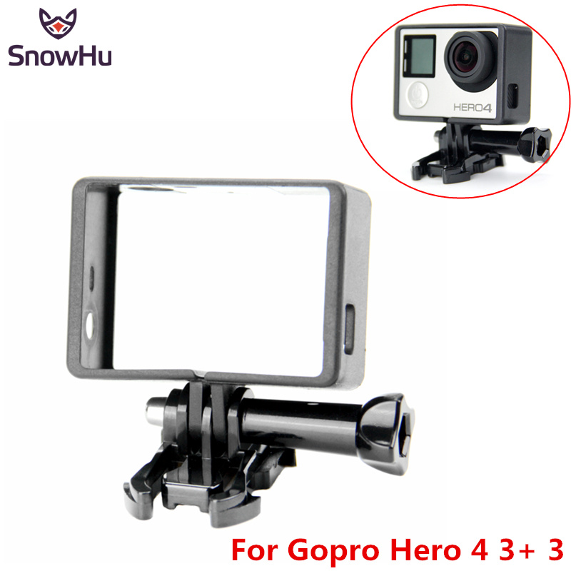 SnowHu For Gopro Accessories Standard Protective Frame +Mount Base+Long Screw For Go Pro Hero 8 7 6 5 4  Camera GP71