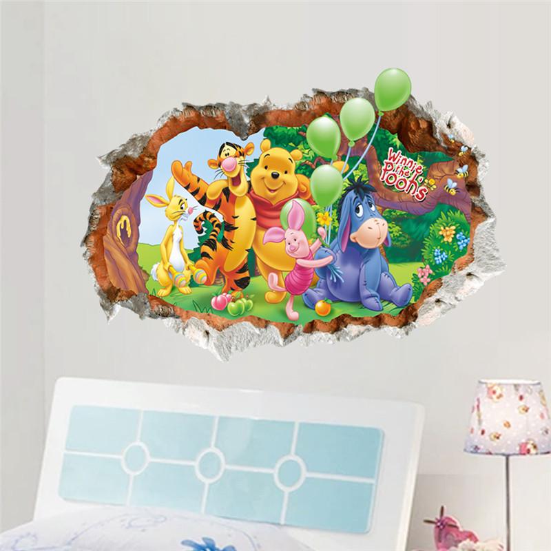 HTB1PHj KpXXXXXvXXXXq6xXFXXX5 - Animals zoo cartoon Winnie Pooh wall sticker for kids room