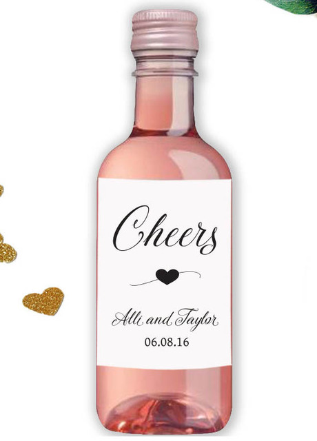 Us 26 8 Customized Cheers Wedding Personalized Wine Bottle Labels Personalised Baby Shower Champagne Sticks Custom Beer Tags In Party Diy