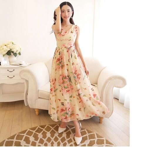 Women Summer Dress Maxi Long Chiffon Beach Dresses Loose Casual Butterfly  Printed Dress Slim Brand Vestidos PlusSize XXXL-in Dresses from Women s  Clothing ... 5fb404f7dc57