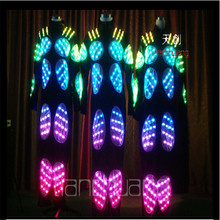 TC-14 Robo mens costumes full color LED colorful ballroom dj wears dancing luminous light stage robot suit Programmable clothes