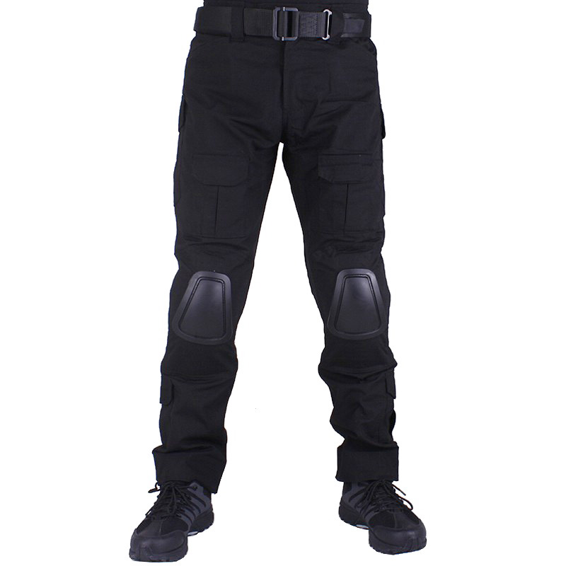 Camouflage military Combat pants men trousers tactical army pants with Removable knee pads Black mgeg militar tactical cargo pants men combat swat trainning ghillie pants multicam army rapid assault pants with knee pads