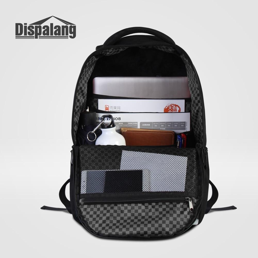 Dispalang Unique sac à dos pour ordinateur portable portable cahier hommes en plein air sac à dos ordinateur de voyage sac à dos Animal sacs d'école Mochilas - 4
