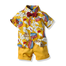 Baby Boy clothing Set Hawaiian wind Suit Short Sleeve Printed Shirt Shortts Kids Clothes Suits Children Boys Clothes Sets