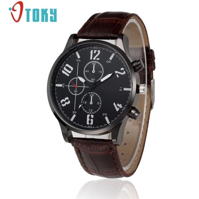 e42023dd0cb OTOKY Luxury Quartz Watch Casual Fashion Leather Watches geneva Men Clock  Sports Wristwatch  40 Gift 1pc