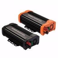 VEHEMO Car Solar Power Converter Inverter Black Orange Smart Aluminium Alloy Transformer Charger Adapter 50 60Hz