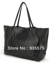Women 100% Genuine Real Soft Cowhide Leather Tote Shopper Handbag Shoulder Duffle Shopping Bag Purse Cabas Hobo Satchel Large