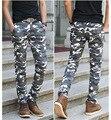 2017 Spring Autumn Skinny Sweatpants For Men Camouflage Jogger Pants Casual Sweat Pants Pantalon Sport Homme 32 34 36 38