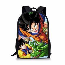 Cartoon Dragon Ball Backpack for Student Son Goku/Super Saiyan/Vegeta Print School Bag Baby Boy Kids Bookbag Notebook Backpack dragon ball z sun goku super mario boy girl cartoon pencil case bag school pouches children student pen bag kids purse wallet