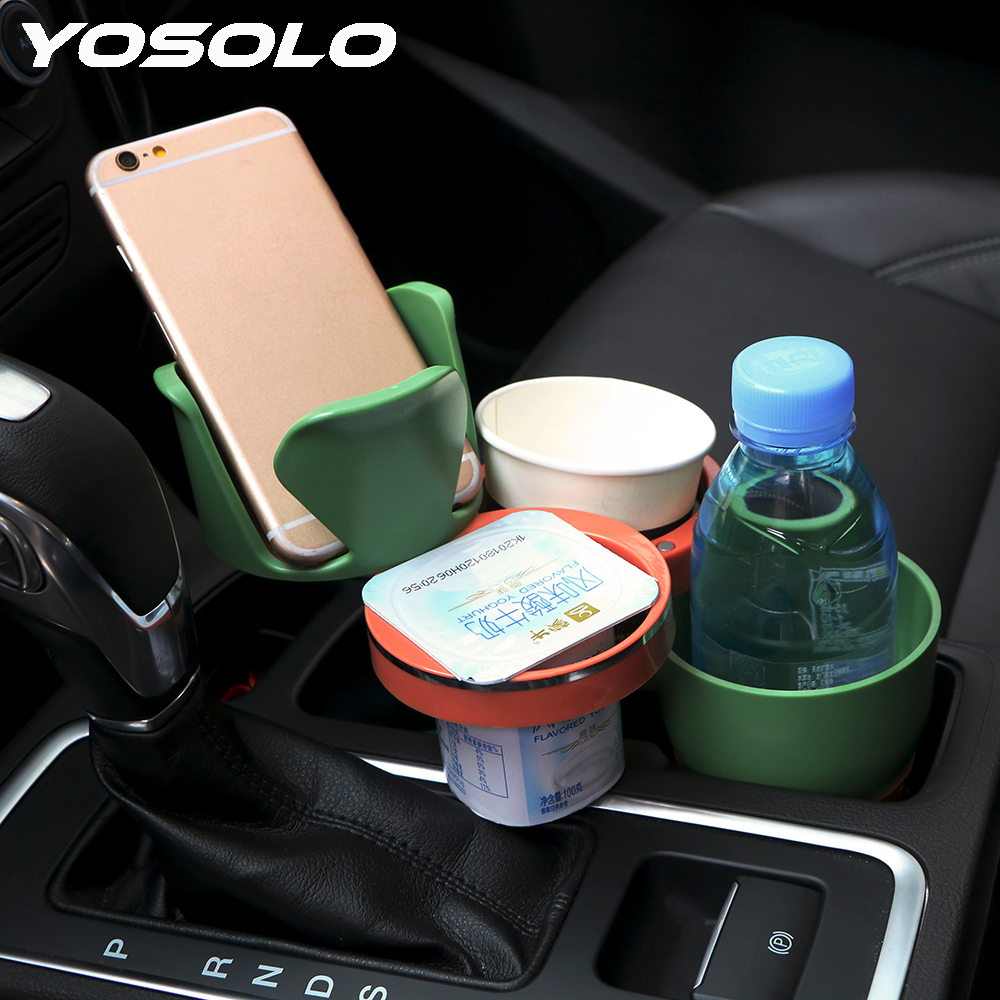 YOSOLO Auto Sunglasses Drink Cup Holder Phone Holder Interior Accessories For Coins Keys Phone Stand Car Organizer Car-styling(China)