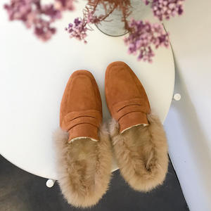53dca01502f HanDuEKe shoes 2018 mules women slide sandals winter ladies