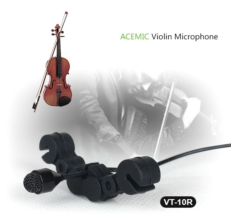ACEMIC VT-10R Pro Wired Violin Microphone High Fidelity Voice Vibration Protect acemic bt 10 pro wired acoustic bass microphone high fidelity voice