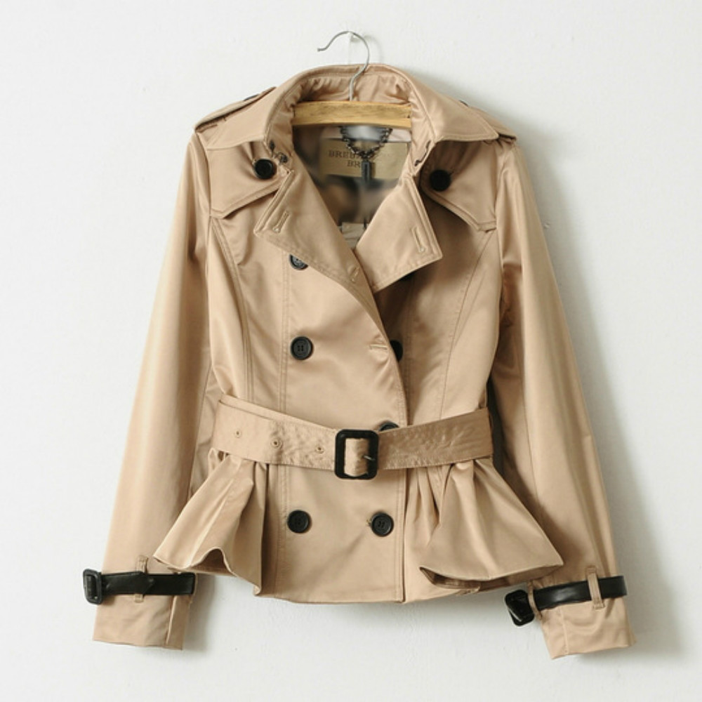 New Runway Women Trench 2018 Autumn Designer Double Breasted England Classical Coat Female Belt Short High