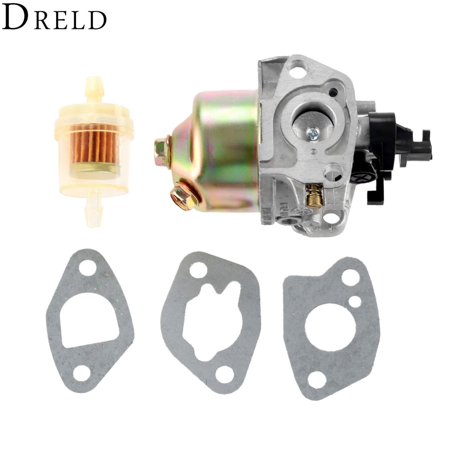 dreld carburetor with carburetor gasket fuel filter for mtd cub cadet troy bilt lawn mower [ 1600 x 1600 Pixel ]