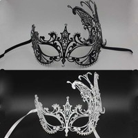 2016 Pure Metals Anonymous Mask High Quality Masquerade Venetian Mask Halloween Mask For Women Factory Direct
