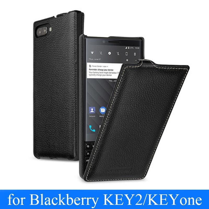 Nouvelle carte de couverture en cuir véritable pour Blackberry KEY2 KEY deux BBF100-1 étui de protection Mobile en cuir pour KEYone