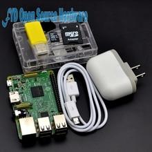 1 zestaw 3 Zestaw Startowy z Raspberry Pi Raspberry Pi 3 Model B + 5 V 2.5A Zasilacz EUUSUKAU + Radiatory + Case + Pamięci