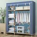 JZ0/2017 New L135*D46*H173cm DIY Wardrobe Closet Dormitory Folding Storage Cabinet Dust-proof Storage Racks 9 Colors
