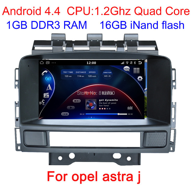 Newest Pure Android 4.4 Car dvd for OPEL ASTRA J with 1.2G Quad Core CPU GPS,Radio,BT,CAN-BUS,Option (Wifi,3G,OBD) Free shipping