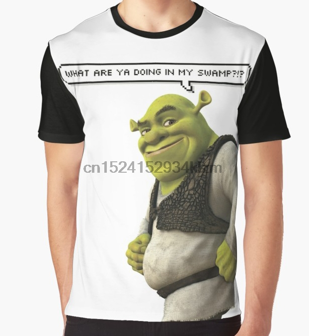 30584558f All Over Print T-Shirt Men Funy tshirt Shrek Short Sleeve O-Neck Tops