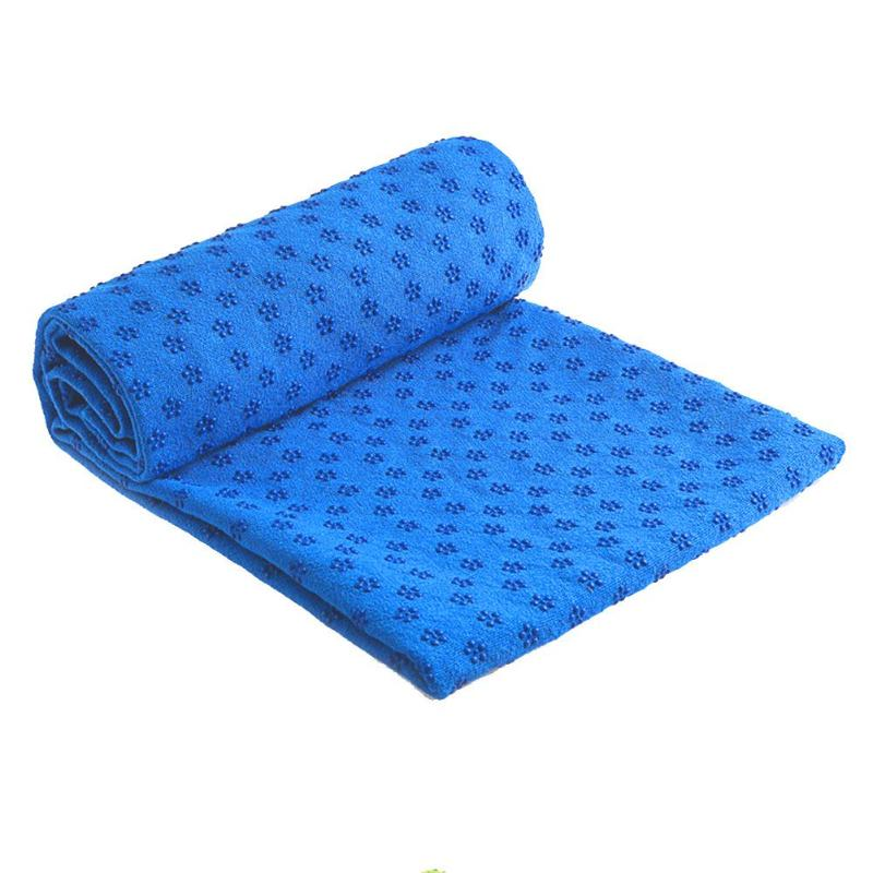 Non Slip Cotton Yoga Mat Rug Plum Dotted Resin Towel Blanket Sweat Absorbing Towel for Sport Fitness Exercise Pilates SuppliesNon Slip Cotton Yoga Mat Rug Plum Dotted Resin Towel Blanket Sweat Absorbing Towel for Sport Fitness Exercise Pilates Supplies