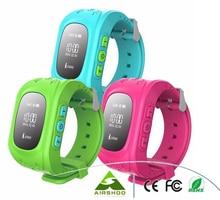 5ชิ้นสมาร์ทโทรศัพท์นาฬิกาเด็กเด็กนาฬิกานาฬิกาข้อมือQ50 GSM GPRSติดตามจีพีเอสป้องกันการสูญเสียS Mart W Atchเด็กยามสำหรับiOS A Ndroid