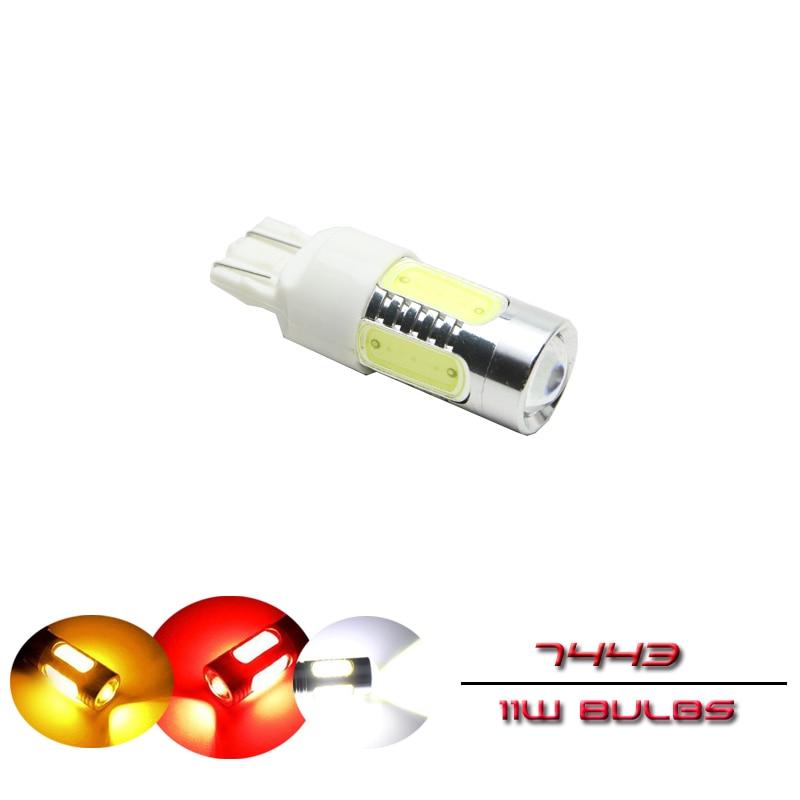 1шт Т20 7443 в w21/5W светодиодные авто лампы 21/5 Вт автомобиля двойной нити бесцокольное авто замена лампы для резервного копирования обратного сигнала