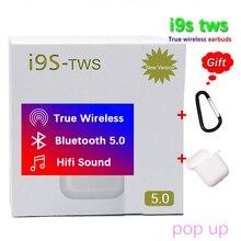 I9S TWS беспроводные наушники портативные 5,0 наушники для bluetooth-гарнитуры всплывающие не w1 чип audifonos para celular pk xy pods elari