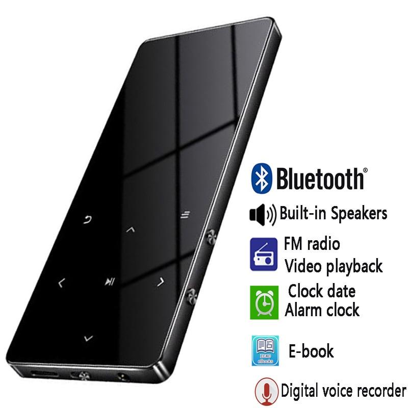 2019 Neuestes Design Bluetooth 4,2 Mp4 Spieler Touch-taste Ultra Dünne Mp3 Musik-player Mit Lautsprecher 1,8 Zoll Farbe Bildschirm Verlustfreie Sound Mit Fm E-buch Gute Begleiter FüR Kinder Sowie Erwachsene Tragbares Audio & Video