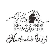 ec0fcdcb7 أفضل الأصدقاء ل حياة الزوج والزوجة نوم علاقة رومانسية زوجين الحب الزواج  الأسرة الجدار ملصق الفن ديكور