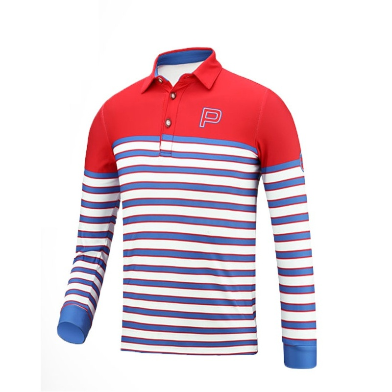 2019 garçons vêtements de Golf enfants à manches longues T-Shirt été rayé respirant vêtements de sport chemises d'entraînement AA51877