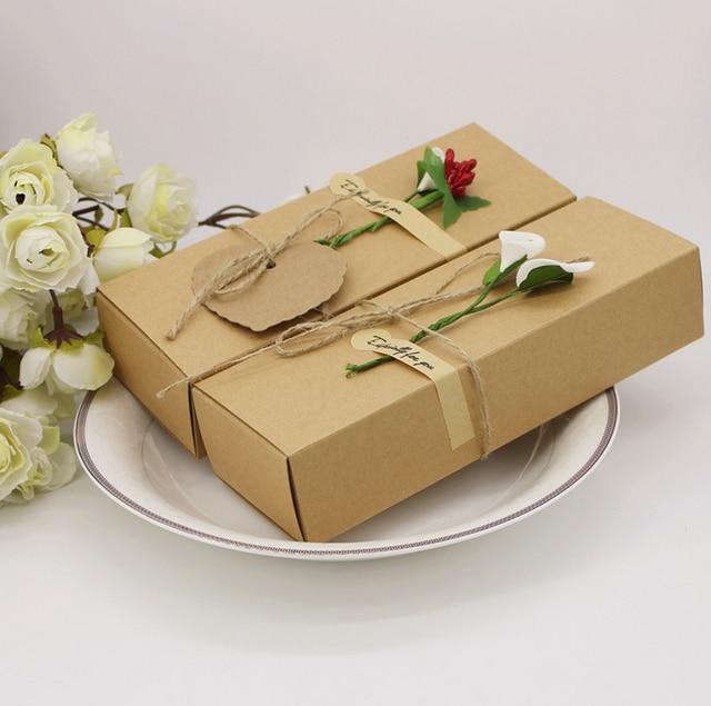 Scatole Per Regali Di Natale.50 X Kraft Paper Bomboniere Scatole E Confezioni Per Dolci Scatole