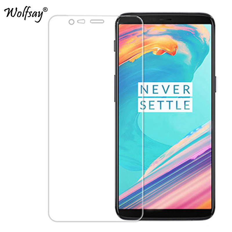 2PCS Screen Protector Glass Oneplus 5T Tempered Glass Phone Film For Oneplus 5T Glass One Plus 5T A5010 Protective Film Wolfsay