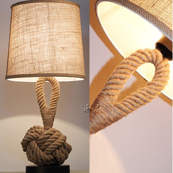 Творческий Настольная лампа персонализированные лен + fabricliving зал Бар промышленности дома спальня исследование декоративная настольная ла...