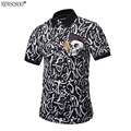 Newsosoo 2017 new Brand design Polo Shirt Men Fashion style POP printed letter skull slim fit Polo shirt M-3XL PT1