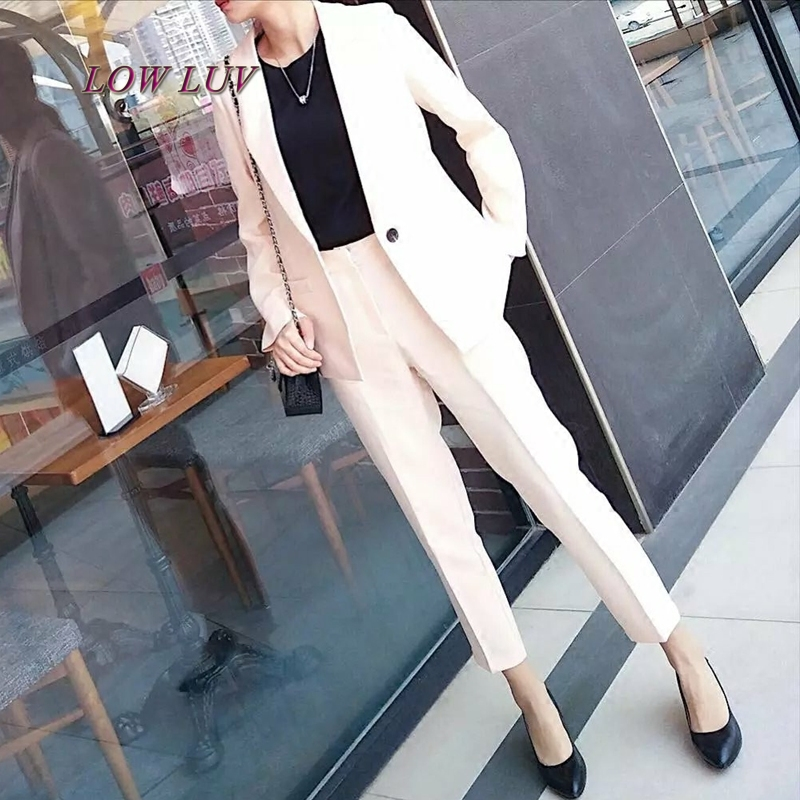 2017 Fall fashion suit suit female career suit jacket and long sections temperament casual two-piece pants tideThe Newdo TB246
