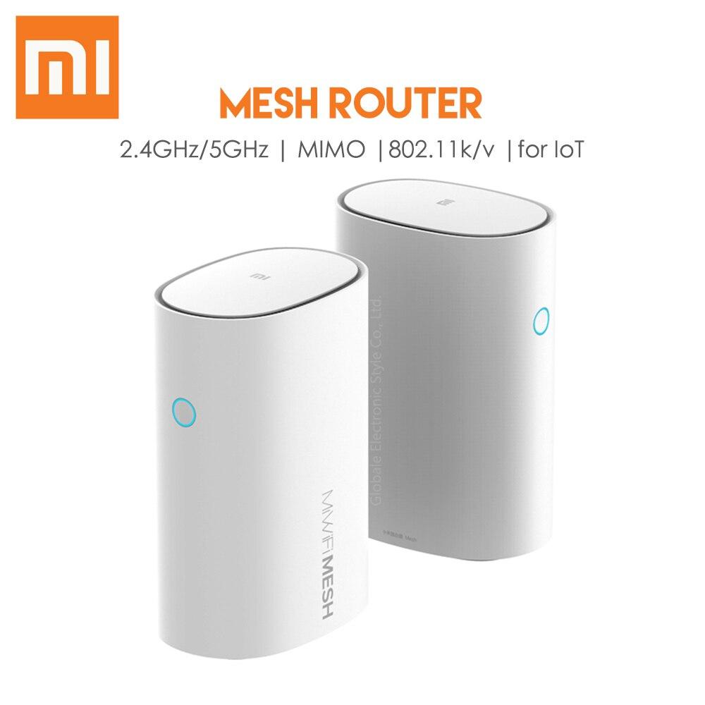 Xiaomi originais Malha Router 2.4GHz 5GHz 11ac MIMO 1000M LAN Router Wi-fi Inteligente IOT AC1300 Amplificador Sem Fio apoio IPV6