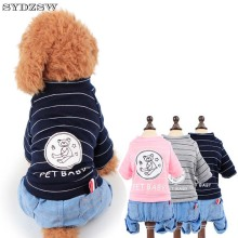 SYDZSW Pet Dog Clothes Puppy Dog Jumpsuit Rompers Chihuahua Jeans in Spring and Summer Yorkshire Coat Pet Products Wholesale