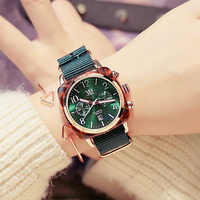 Luxury Classical Square Big Dial Women Sports Watches Canvas Calendar Waterproof Ladies Casual Wristwatch Female Watch Rose Gold