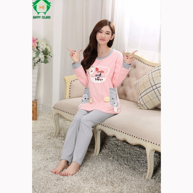 9283fbcfb5 Maternidade Pajamas T Shirt Dress Nightgown Robe Cotton Nightdress  Nightshirt Ladies Nightwear Pijama Sleepwear Sleep Clothings