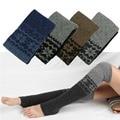 Trendy Universal Winter Women Snowflake Thigh High Leg Warmers  Over Knee Stocking cotton silm warm